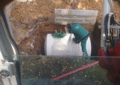 Installation nouvelle cuve citerne à mazout