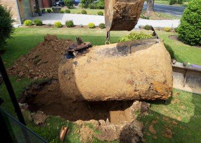 Excavation citerne à mazout