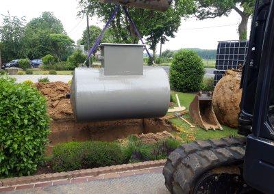 Installation cuve à mazout