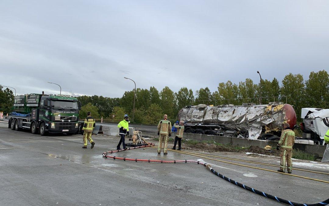 DÉPOLLUTION intervention pour SPW accident autoroute Paris-Bruxelles
