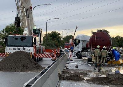 accident autoroute nimy dépollution
