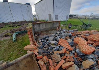 démolition mur et évacuation cuve mazout
