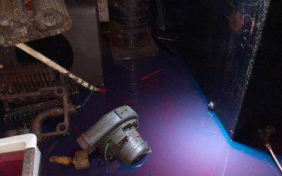 Intervention d'urgence suite à un débordement de cuve à mazout à Uccle