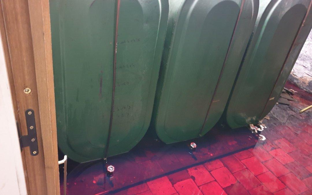 Intervention en urgence ce mardi 8 décembre sur une citerne à mazout fuitée.