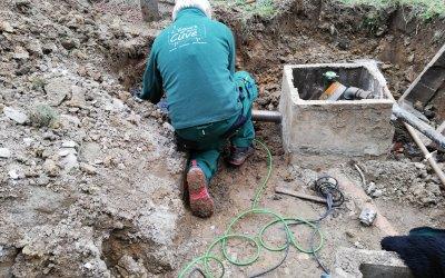 Intervention pour la mise en conformité d'une cuve enterrée à Manage.
