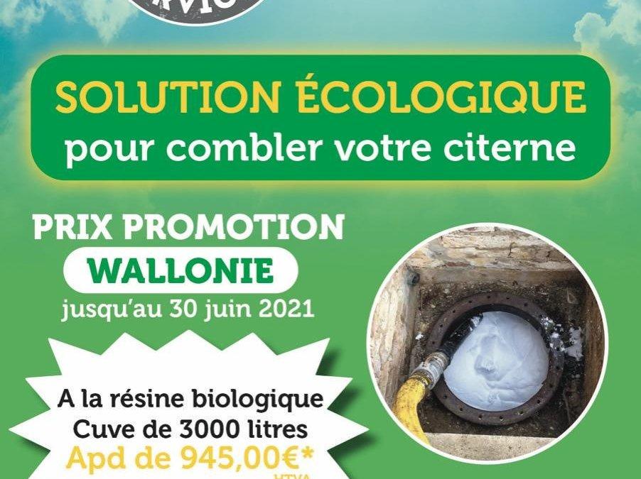 Profitez de notre super promotion pour la neutralisation de votre cuve enterrée à la résine biologique!